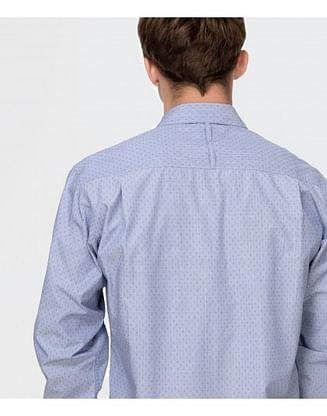 Рубашка Comfort с микропринтом Lee Cooper NEW TENBY PM46 BLUE