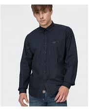 Рубашка Comfort с микропринтом Lee Cooper NEW TENBY PM58 NAVY