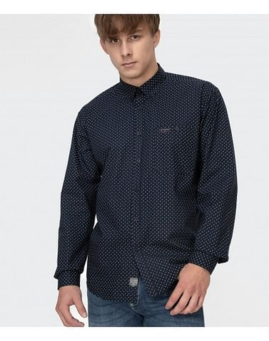 Рубашка Comfort с микропринтом Lee Cooper NEW TENBY PM58 NAVY