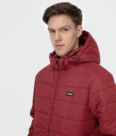 Куртка со съемным капюшоном Lee Cooper FARINEL 4445 DARK RED