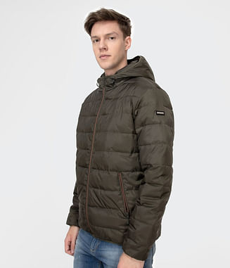Стёганая куртка с капюшоном Lee Cooper FRED 2800 DARK OLIVE