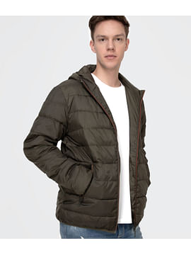 Стеганая куртка с капюшоном Lee Cooper FRED 2800 DARK OLIVE