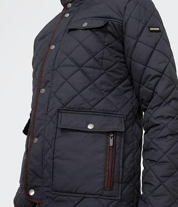 Стеганая куртка с нашивками на локтях Lee Cooper FAGOT 1430 NAVY