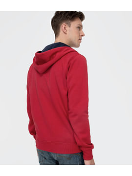 Худи на молнии с капюшоном Lee Cooper AARON 8090 BLUE/RED