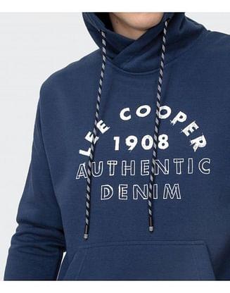 Худи с крупным логотипом Lee Cooper AMON 8915 BLUE