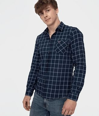 Рубашка Slim с длинным рукавом Lee Cooper VIPER 5305 NAVY