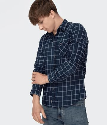 Рубашка Slim с длинными рукавами Lee Cooper VIPER 5305 NAVY