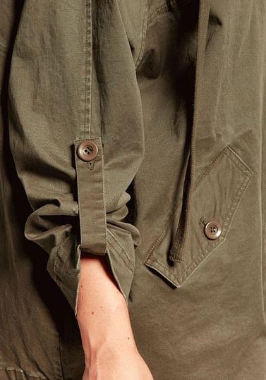 Куртка оверсайз с капюшоном Lee Cooper CLOE 2125 DARK OLIVE