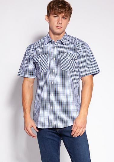 Рубашка Comfort в мелкую клетку Lee Cooper CRAFT2 36KL BLUE