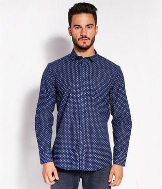 Рубашка Slim с микропринтом Lee Cooper HAMILTON 2269 NAVY