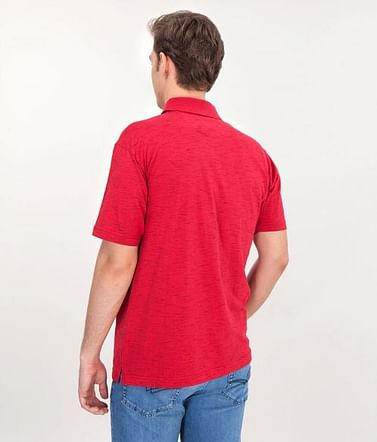 Поло мужское Lee Cooper MODEST 2591 RED/BLUE