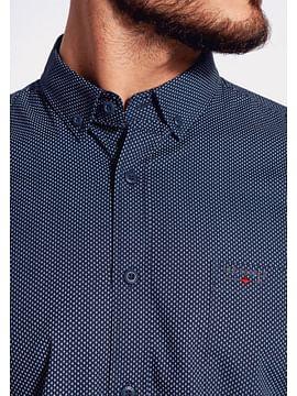 Рубашка Comfort с микропринтом Lee Cooper HAN 2248 NAVY
