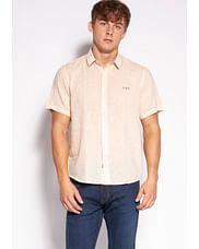 Рубашка Regular со льном Lee Cooper HEGRON2 0321 ORANGE