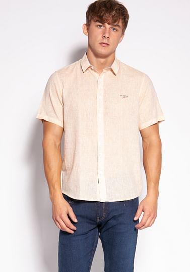 Рубашка Regular с добавлением льна Lee Cooper HEGRON2 0321 ORANGE