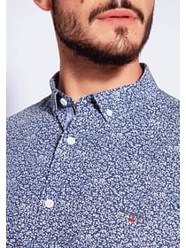 Рубашка Slim с микропринтом Lee Cooper HENRY 2251 NAVY