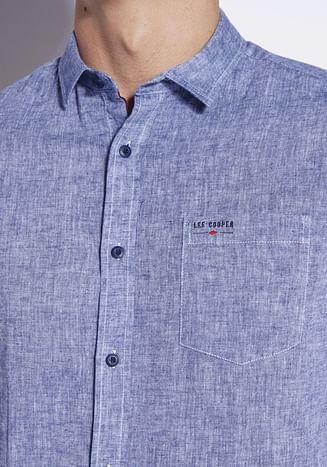 Рубашка Regular с добавлением льна Lee Cooper HILL 0337 BLUE