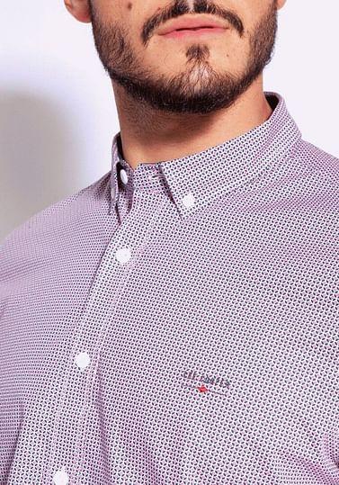 Рубашка Slim с микропринтом Lee Cooper HOGAN2 2258 RED