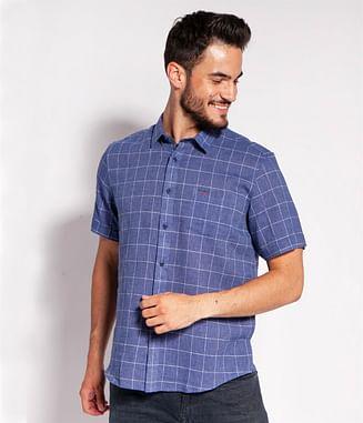 Рубашка Regular со льном Lee Cooper HOLTAN2 2070 BLUE