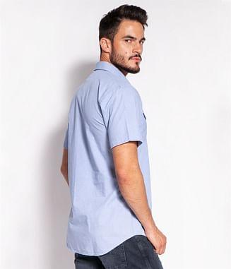 Рубашка Slim с коротким рукавом Lee Cooper MALT2 52KL BLUE