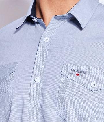 Рубашка Slim с короткими рукавами Lee Cooper MALT2 52KL BLUE