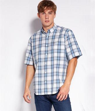 Рубашка Comfort в клетку Lee Cooper NEW TENBY2 20KL BLUE
