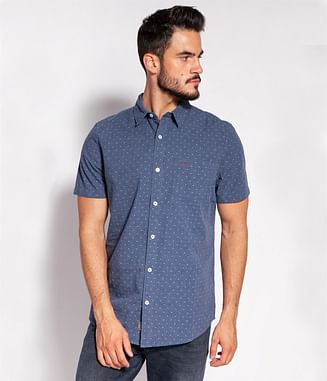 Рубашка Comfort с микропринтом Lee Cooper ODO2 1056 NAVY