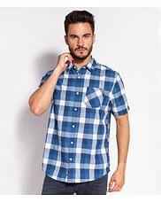 Рубашка Comfort со льном Lee Cooper ODYS2 1018 BLUE