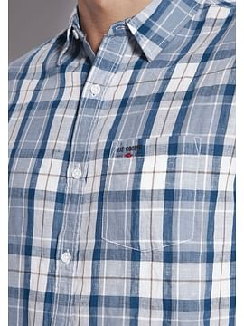 Хлопковая рубашка Regular в клетку Lee Cooper OLAF2 1008 BLUE