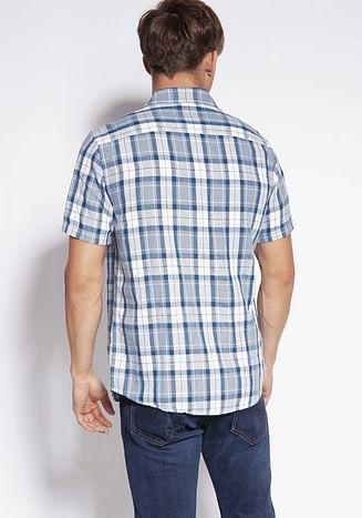 Рубашка Regular в клетку Lee Cooper OLAF2 1008 BLUE