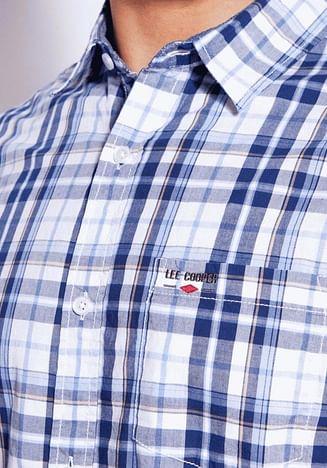 Рубашка Comfort лён и хлопок Lee Cooper OLAF2 1042 BLUE