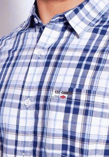 Льняная рубашка Comfort с хлопком Lee Cooper OLAF2 1042 BLUE
