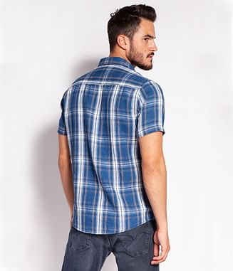 Рубашка Regular лён и хлопок Lee Cooper OLEG2 1044 BLUE