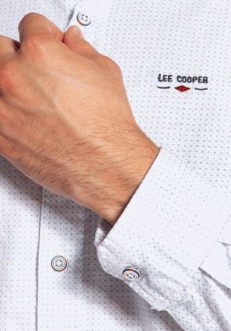 Рубашка Slim с мелким принтом Lee Cooper OLIMP 1009 WHITE
