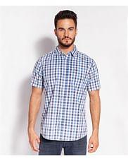 Рубашка хлопок Regular в клетку Lee Cooper OMAL2 1041 BLUE