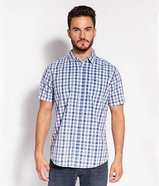 Рубашка хлопковая Regular в клетку Lee Cooper OMAL2 1041 BLUE