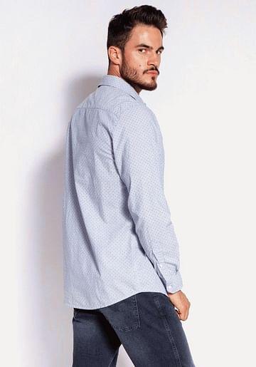 Рубашка Regular с микропринтом Lee Cooper OMAR 1001 BLUE