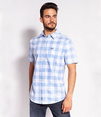 Рубашка Regular в клетку Lee Cooper OSCAR2 1026 BLUE