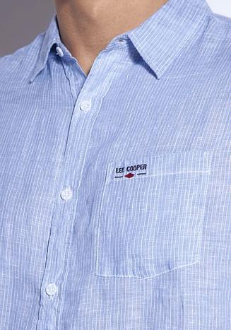 Льняная рубашка Regular Lee Cooper OLIVIERO2 1006 BLUE