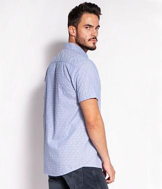 Рубашка Regular с микропринтом Lee Cooper OWEN2 1014 BLUE