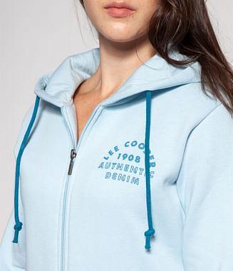 Худи на молнии с капюшоном Lee Cooper ELVIRA 9582 BLUE