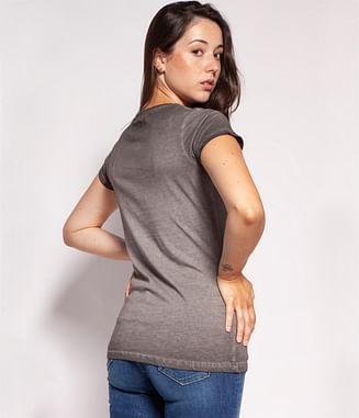 Приталенная футболка с принтом Lee Cooper GWEN 7979 GREY
