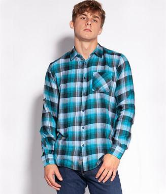 Рубашка Regular в клетку Lee Cooper LUKE 1021 TURQUOISE