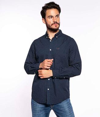 Рубашка Regular с микропринтом Lee Cooper JOEL 6104 NAVY