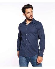 Рубашка Slim хлопок и лён Lee Cooper JONAS 6109 NAVY
