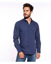 Рубашка Slim с микропринтом Lee Cooper WINDSOR MP03 NAVY
