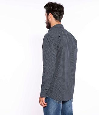 Рубашка Comfort с микропринтом Lee Cooper MIKE 1462 NAVY