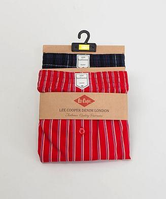 Трусы семейные Lee Cooper BOX14 0910 RED BLACK (2 штуки)