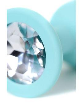 Анальная пробка с прозрачным кристаллом Brilliant