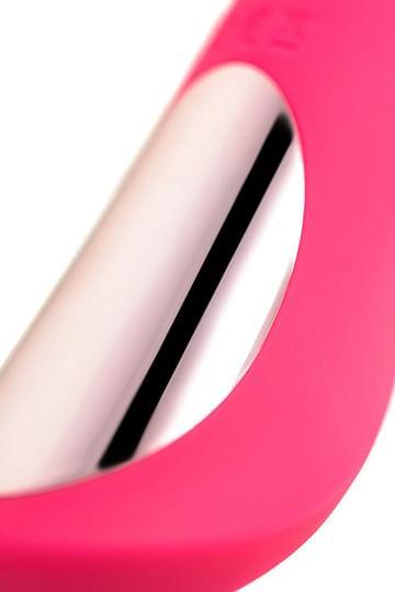 Розовый нереалистичный вибратор JOS Twig