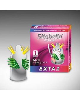 Стимулирующий презерватив с усиками МЕЧ САМУРАЯ SITABELLA